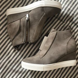 Shoes - Cocci perforated sneaker wedges! Never worn!